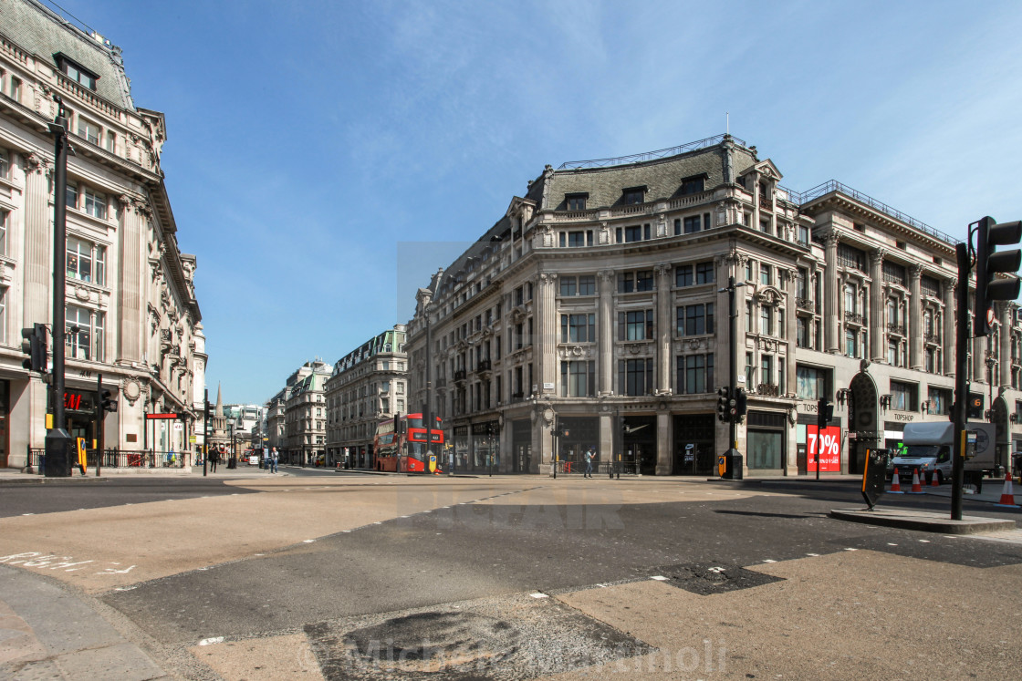 """Oxford Circus on Lockdown"" stock image"