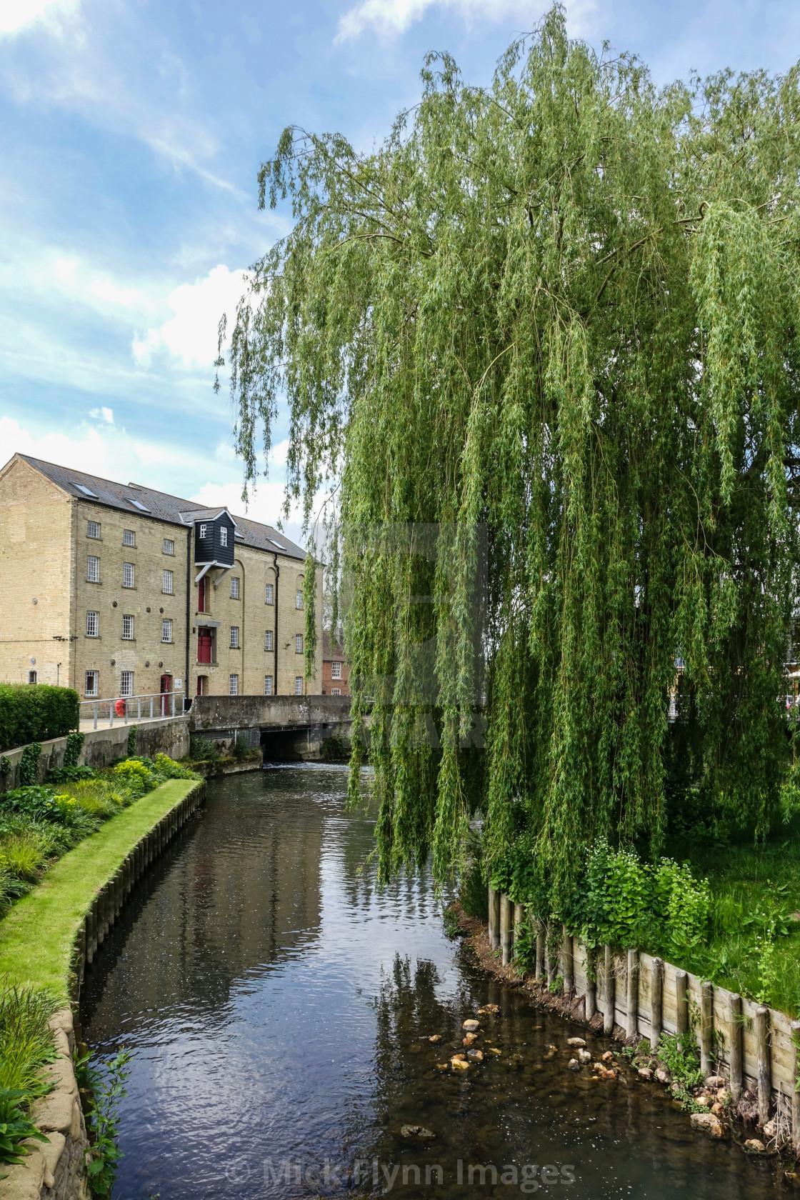"""""""Jordans Mill, Holme Mills, Langford Road, Broom, Bedfordshire"""" stock image"""