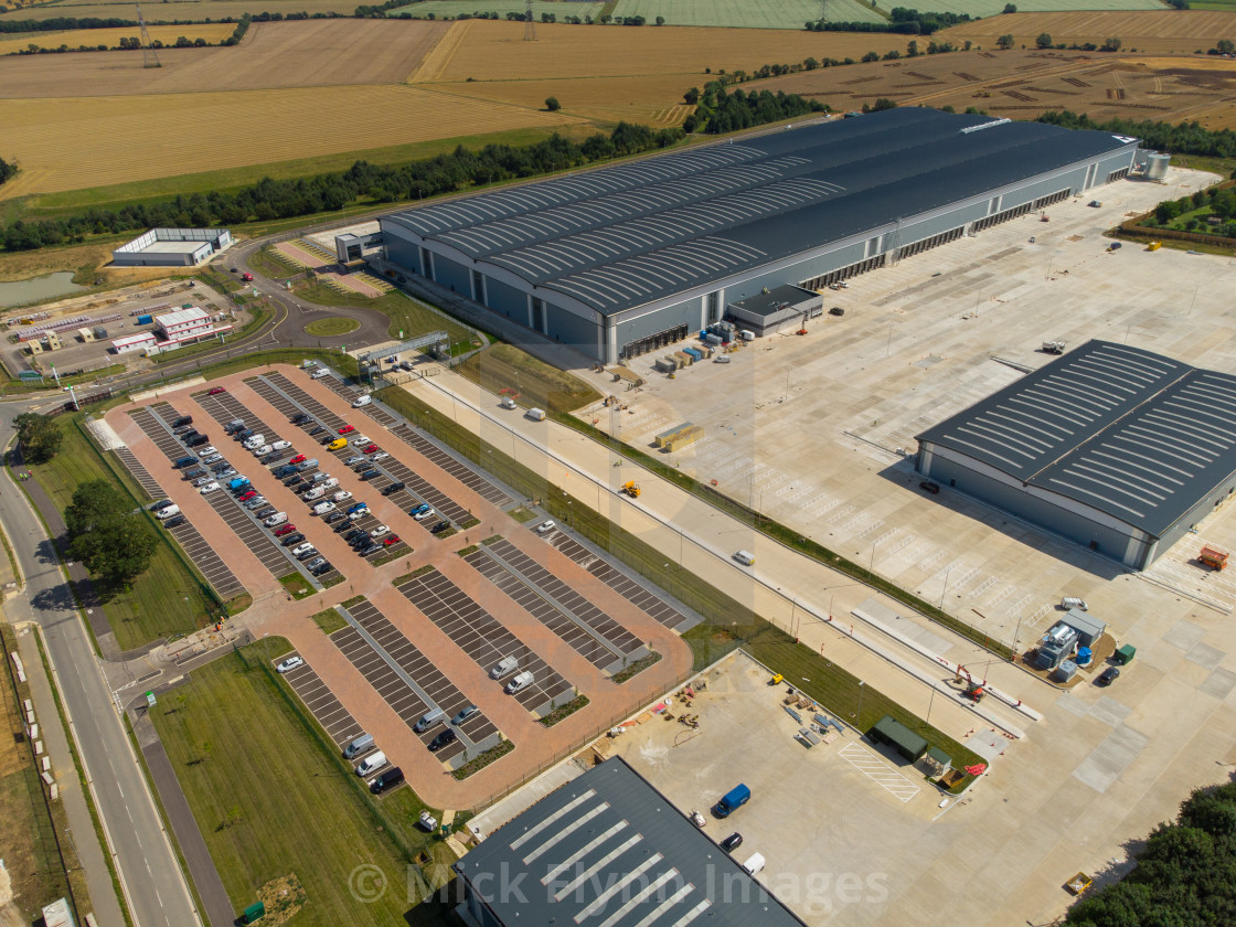 """""""Aerial view of the Co-op food group new regionaldistribution centre in..."""" stock image"""