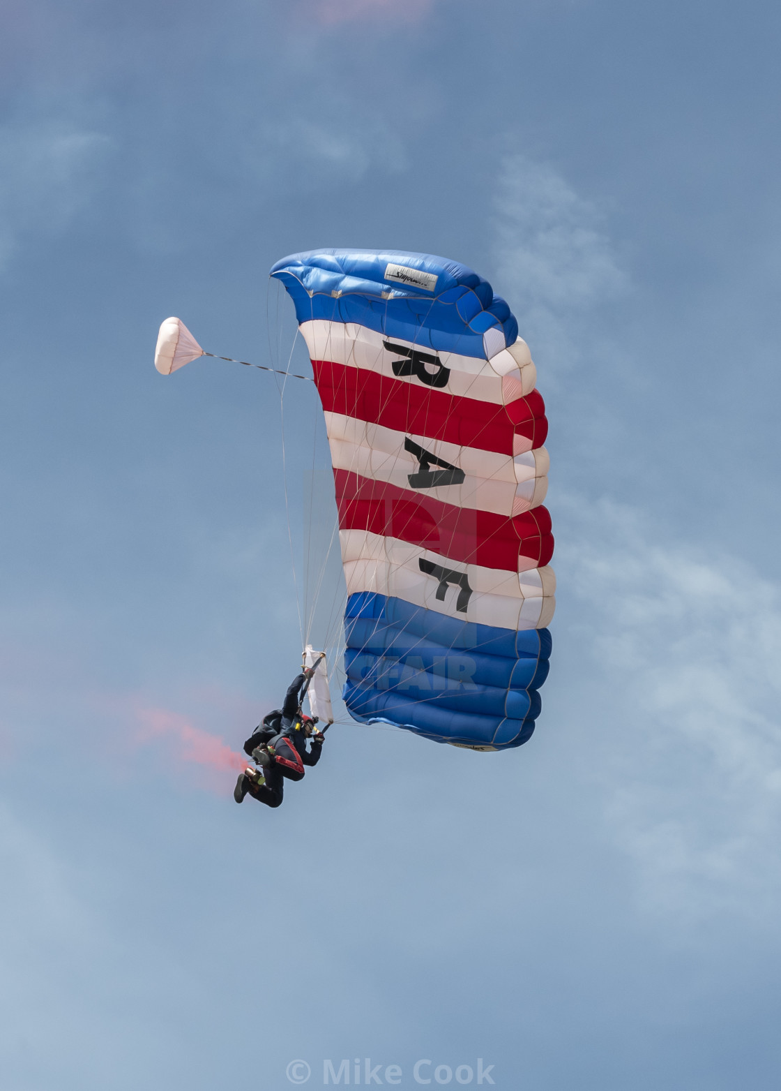 """Falcons free fall parachute display team."" stock image"