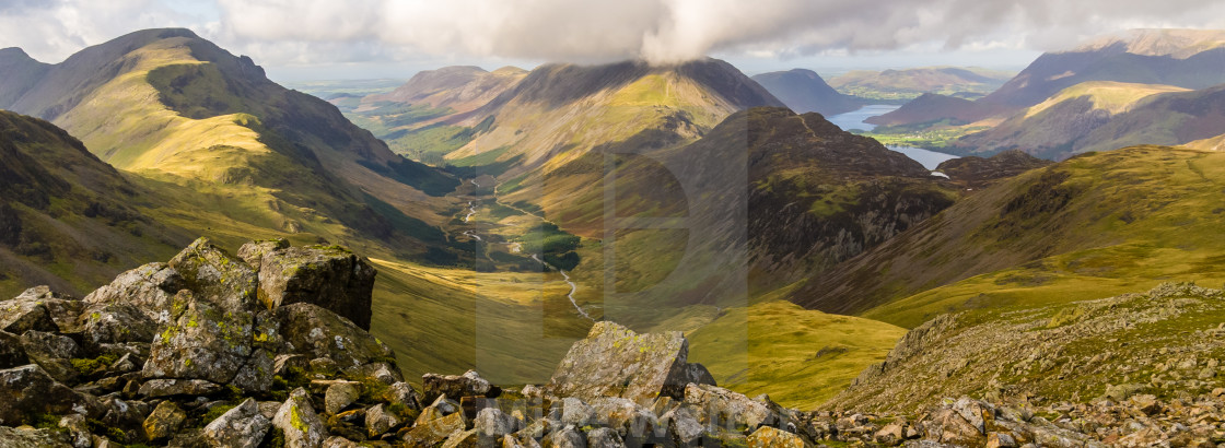 """Lakeland Panorama, Cumbria - 1"" stock image"
