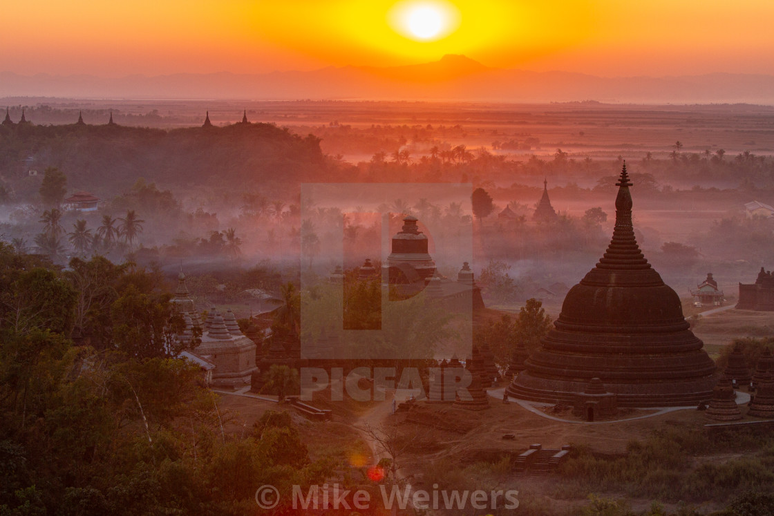 """Sunset over Bagan"" stock image"