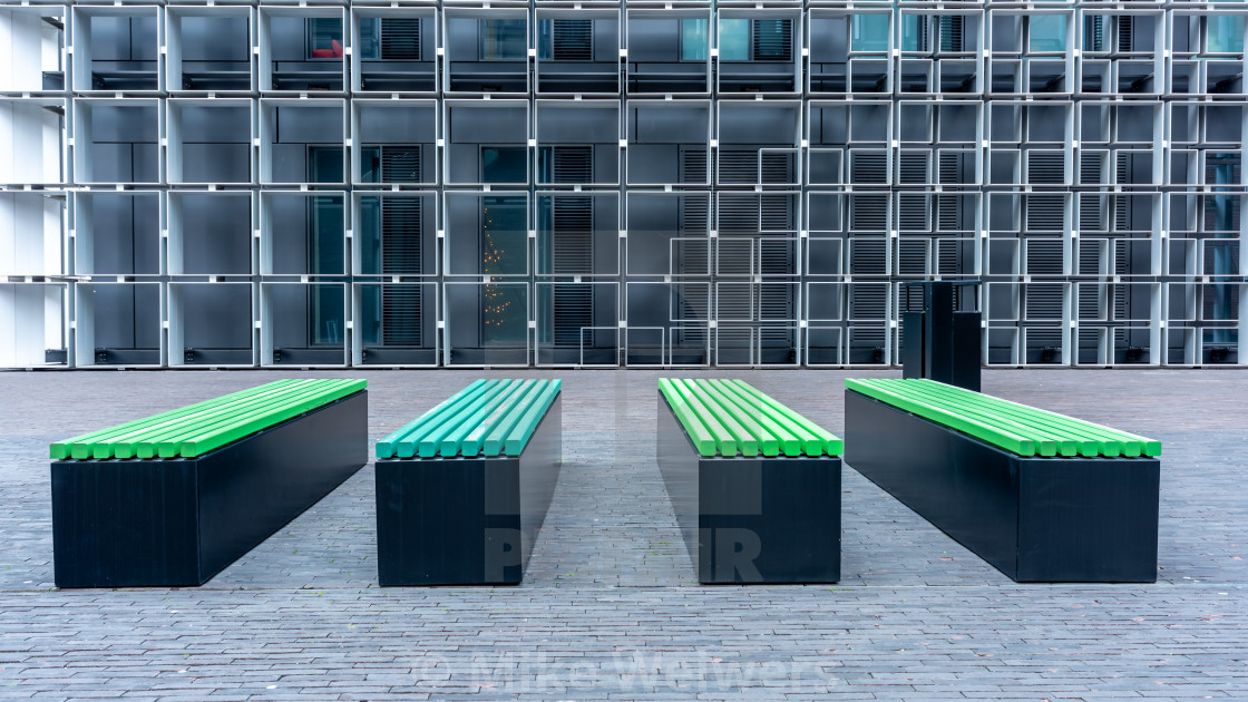 """""""Benches and squares"""" stock image"""