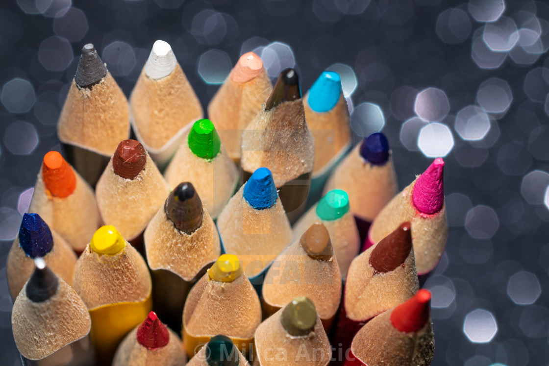 """Colored pencils 3"" stock image"