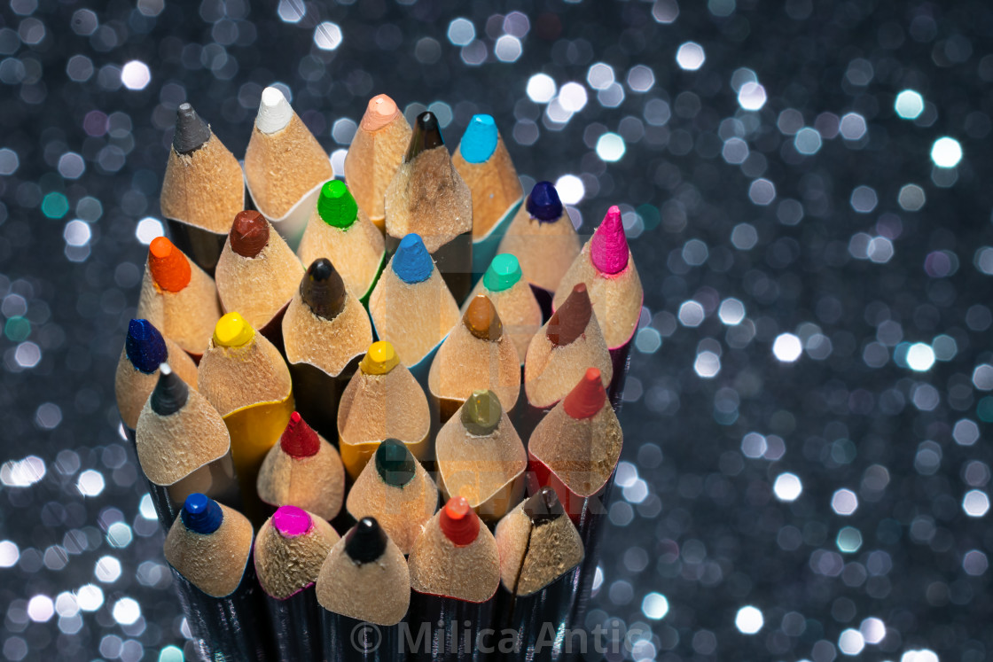 """Colored pencils 4"" stock image"