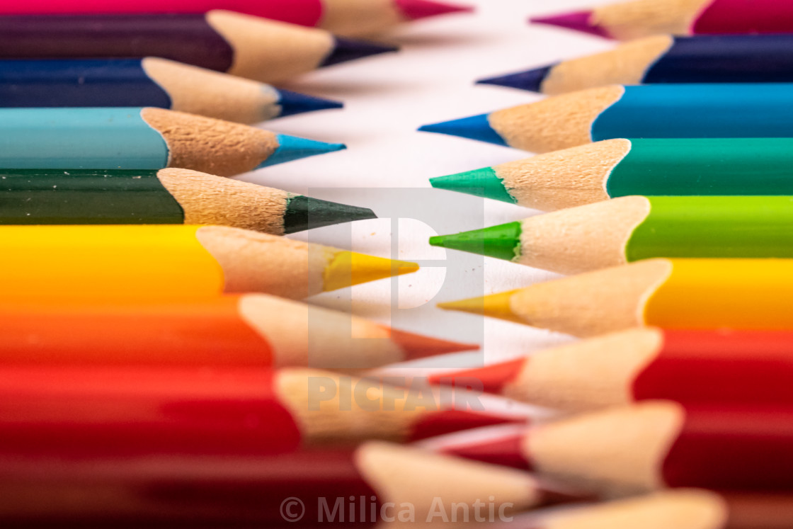 """""""Colored pencils 7"""" stock image"""