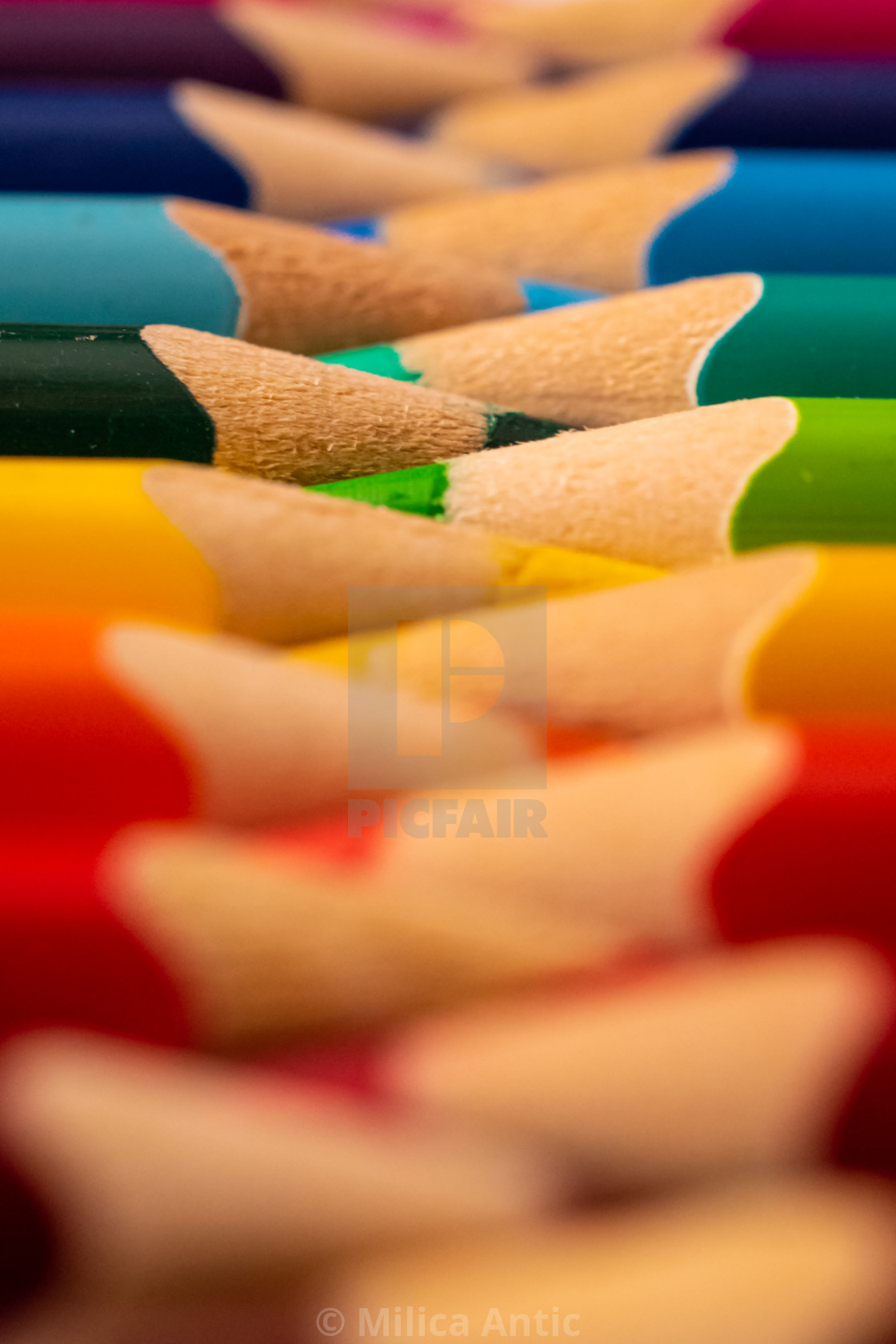"""Colored pencils 9"" stock image"