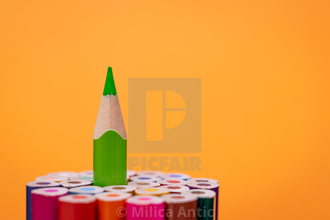 """Colored pencils 13"" stock image"