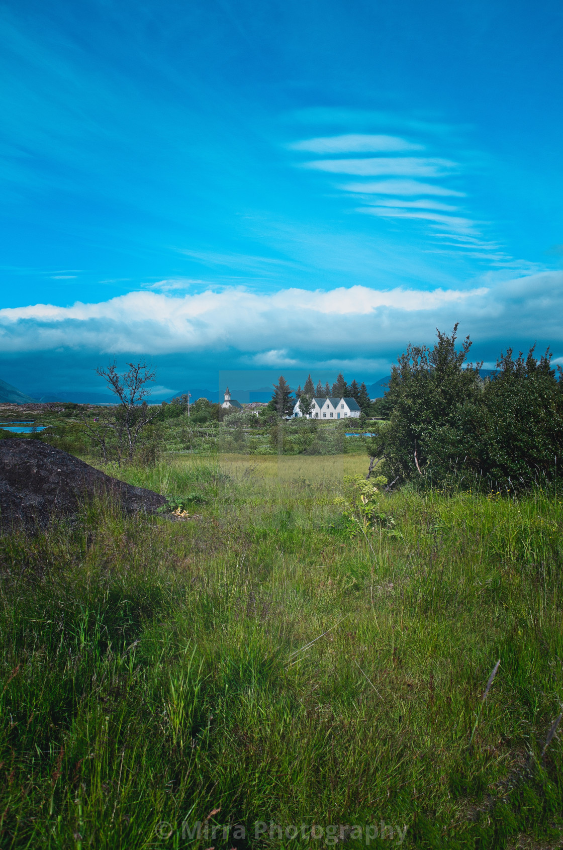 """The church at Þingvellir"" stock image"