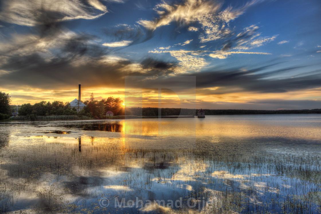 """waterworks sunset 2"" stock image"