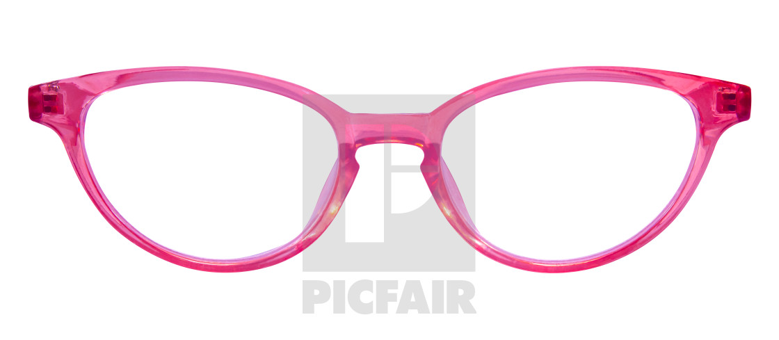 """Retro Pink Cats Eye Glasses"" stock image"