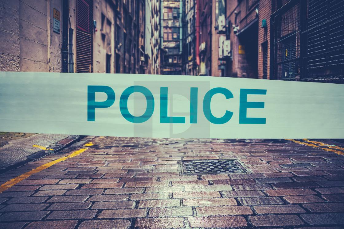 """""""London Crime Scene"""" stock image"""