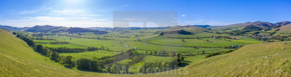 """Panorama Of Summer In The Scottish Borders"" stock image"