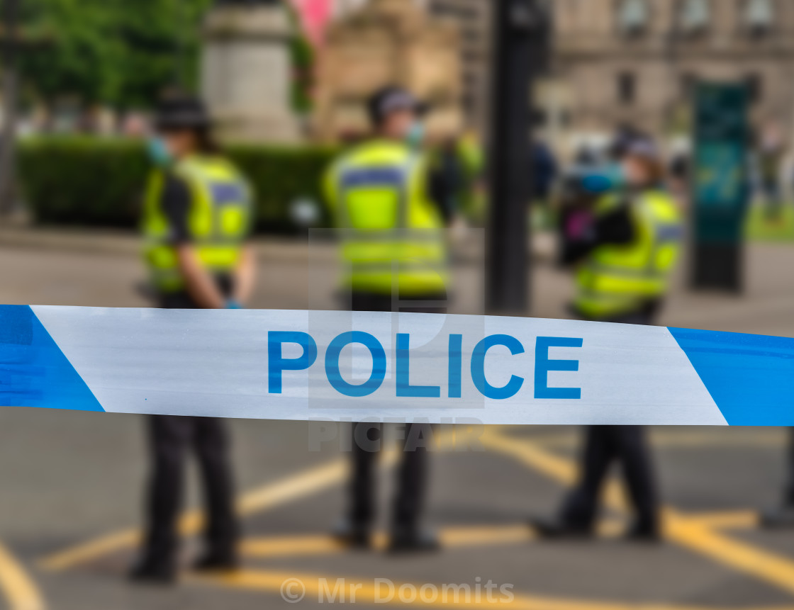"""Glasgow Police At An Incident"" stock image"