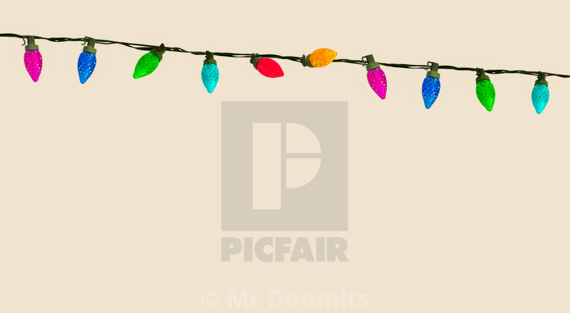 """""""String Of Christmas Or Party Lights"""" stock image"""