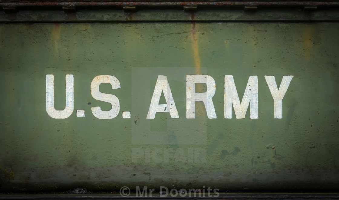 """""""Vintage Sign For The US Army"""" stock image"""