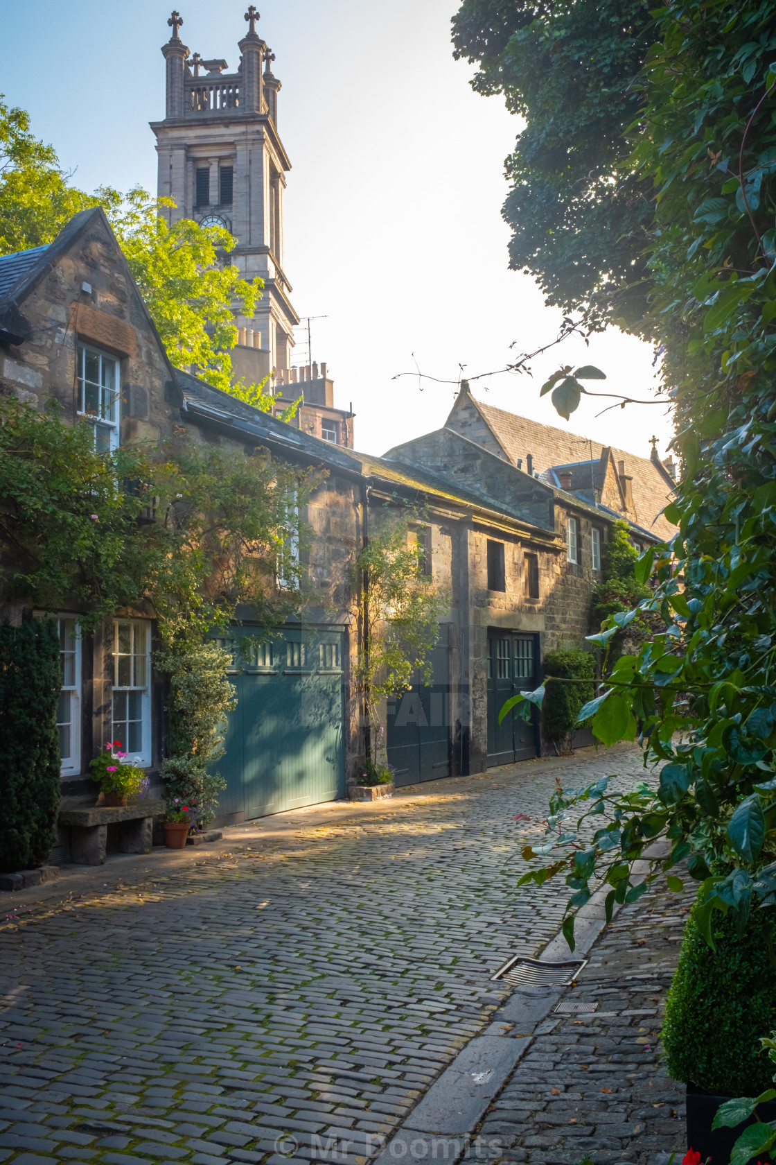 """Pretty Street In Edinburgh Scotland"" stock image"