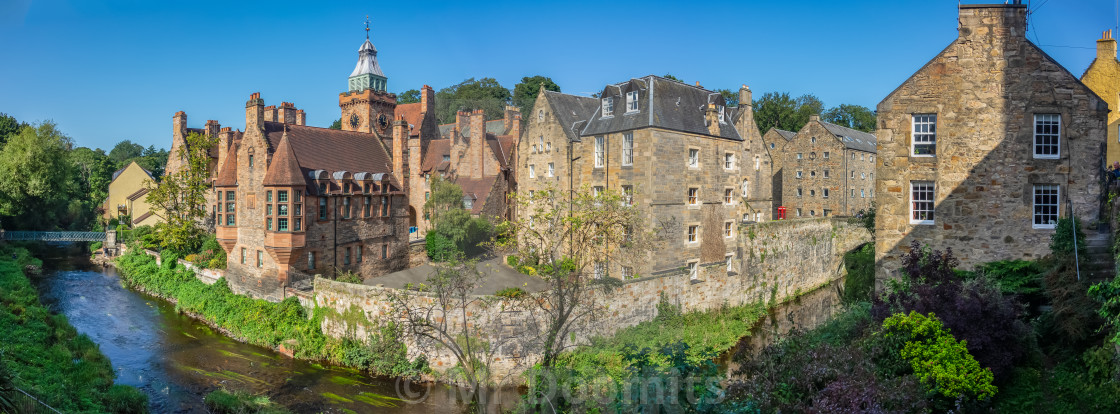 """Panorama Of The Dean Village In Edinburgh"" stock image"