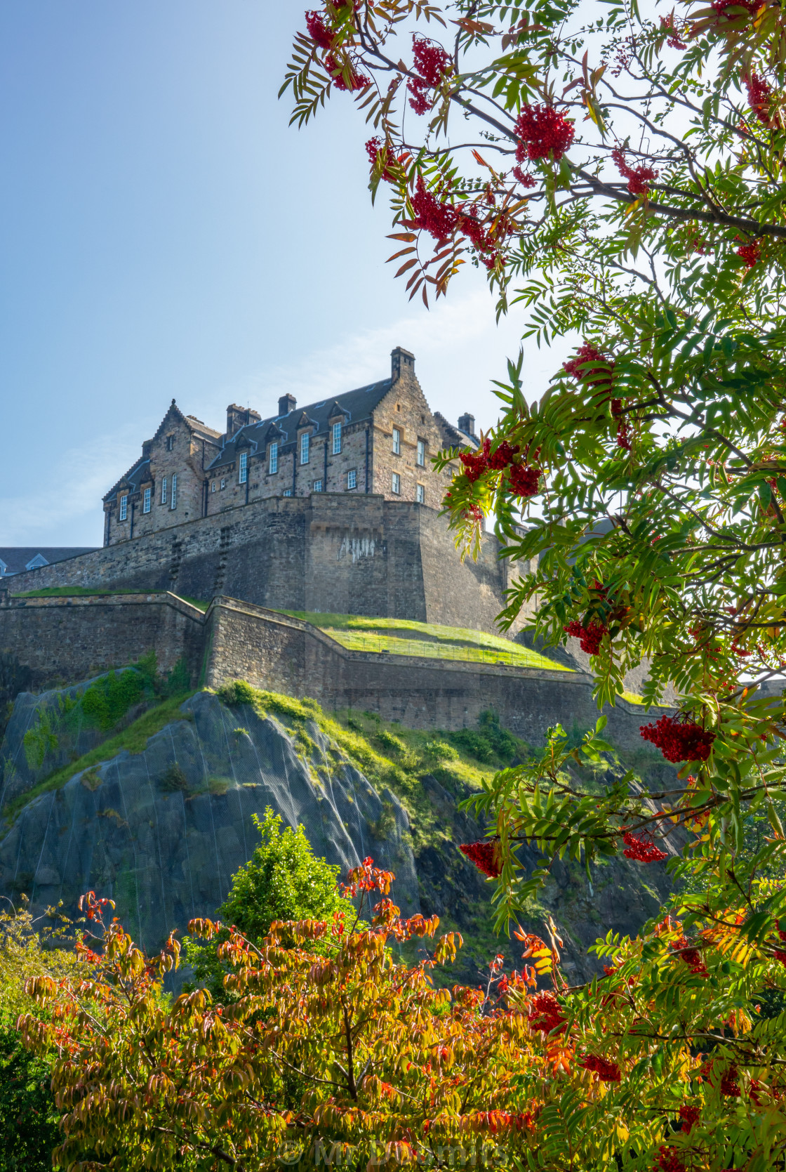 """Edinburgh Castle From Princes St Gardens"" stock image"