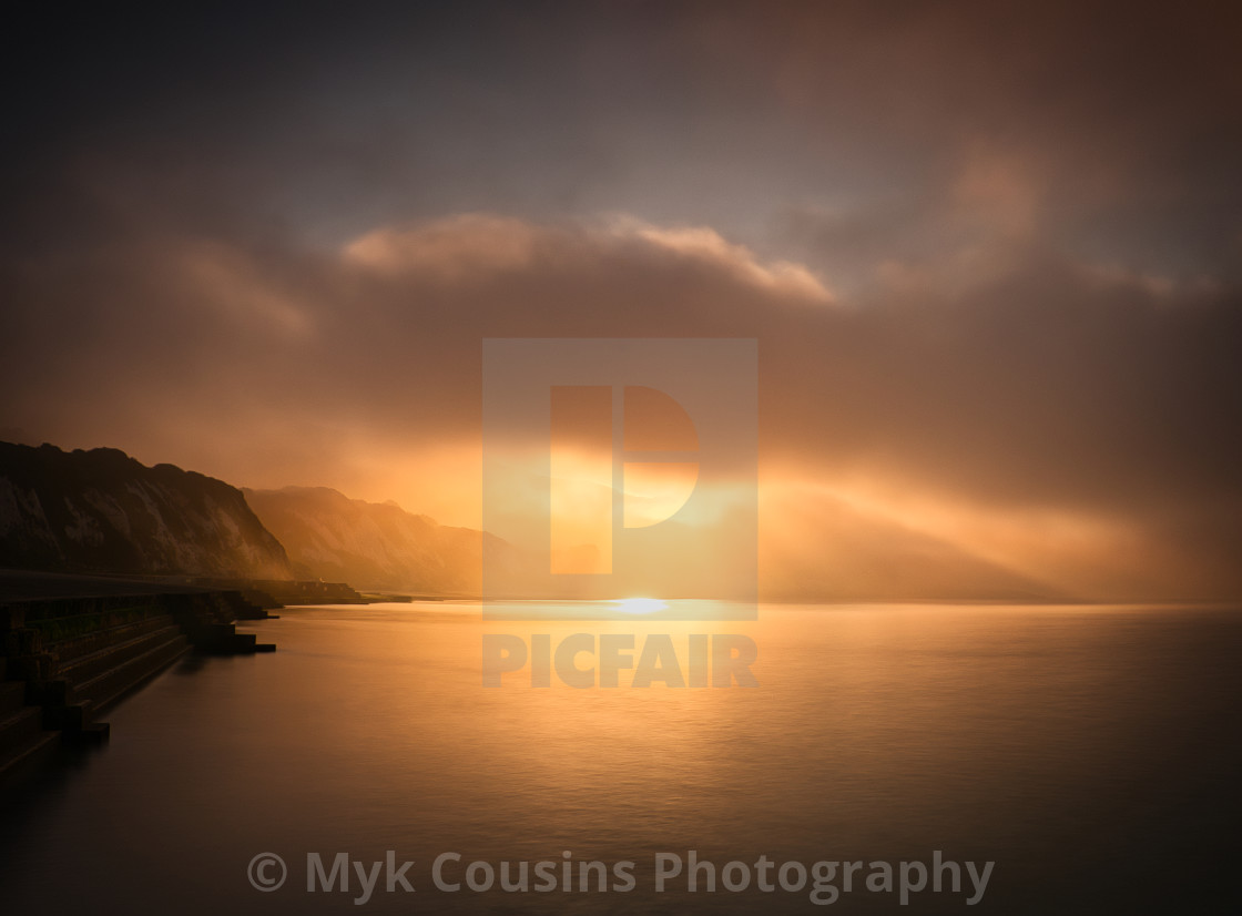 """Folkestone Warren Sunrise"" stock image"