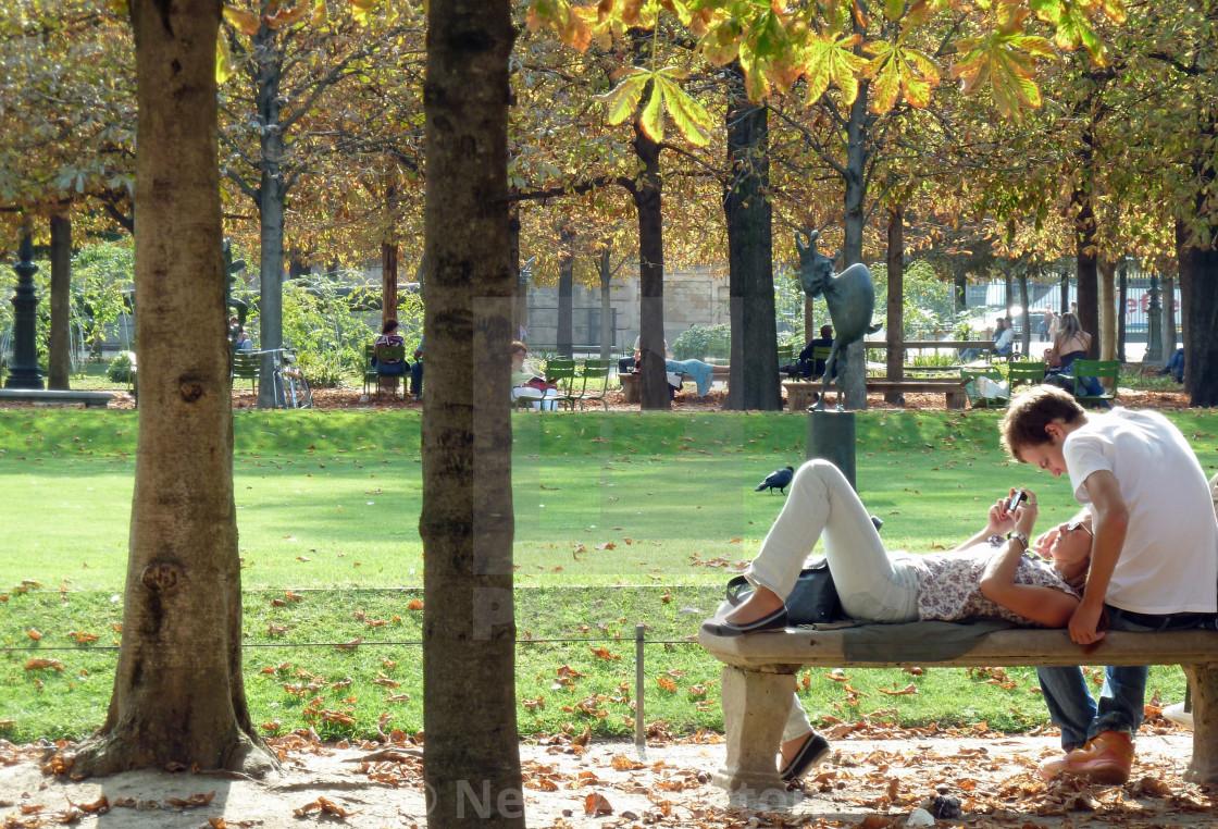 """""""Jardin des Tuileries Paris France"""" stock image"""