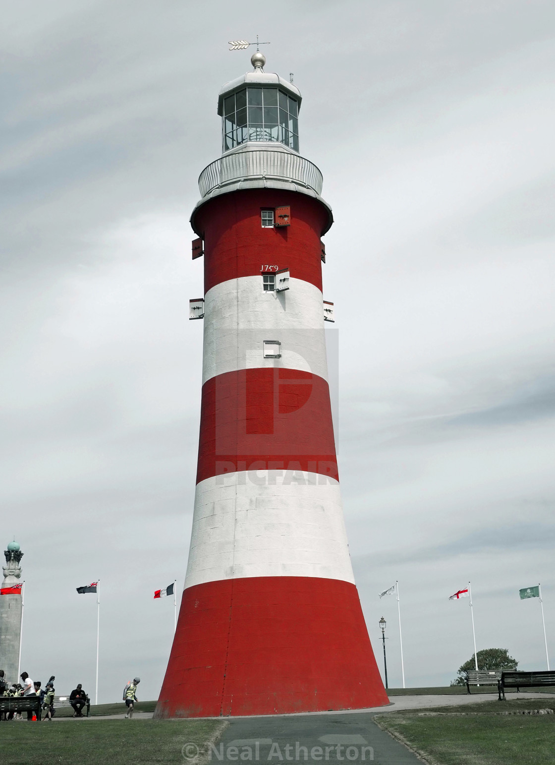 Smeatons's Tower on Plymouth Hoe Devon