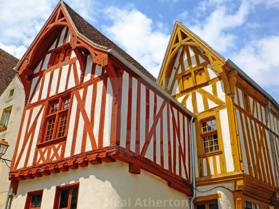 Beautiful Timber Framed Houses in Noyers France