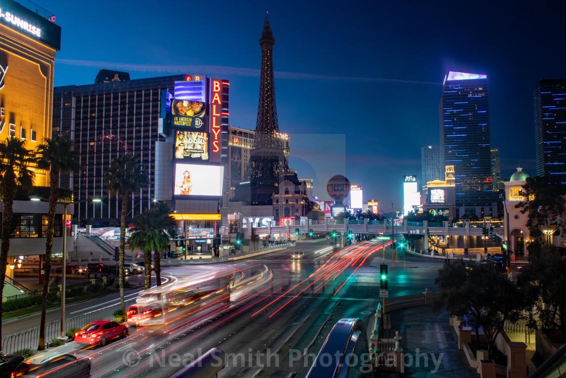 """Las Vegas At Night"" stock image"
