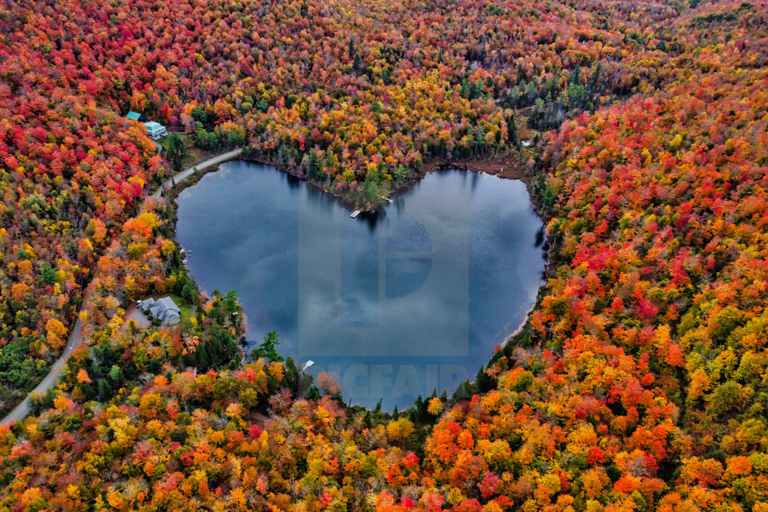 """heart lake / Lac en coeur"" stock image"