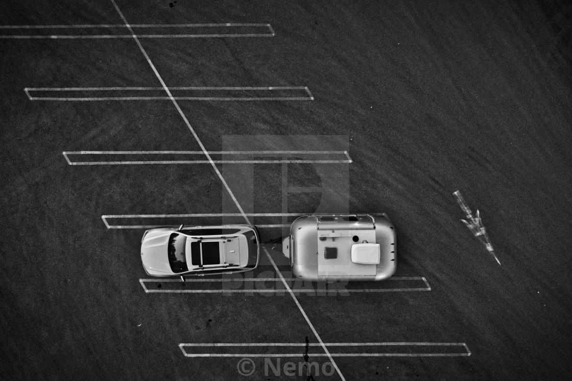 """""""On the road / Sur la route"""" stock image"""