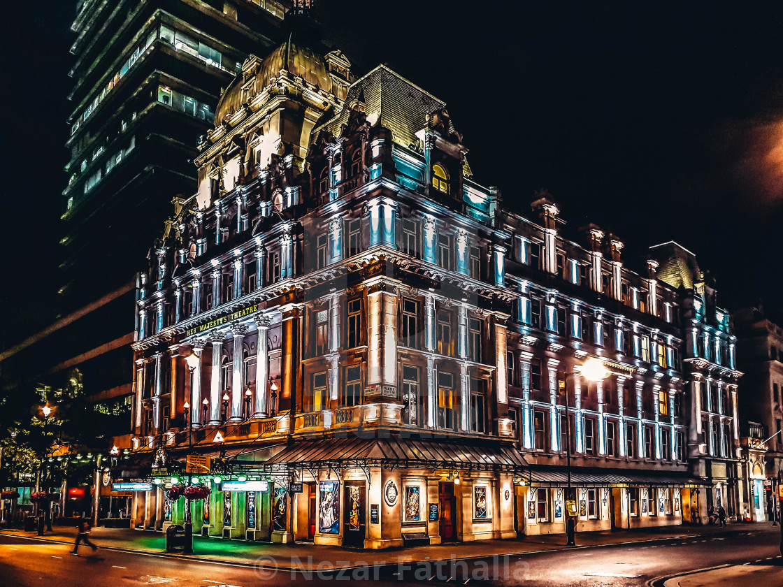 """""""Her Majesty's theatre"""" stock image"""