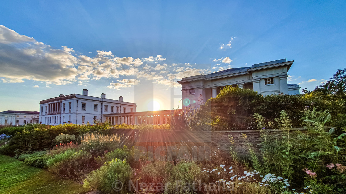"""Sunset in Greenwich"" stock image"