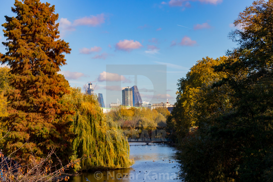 """Autumn in London"" stock image"