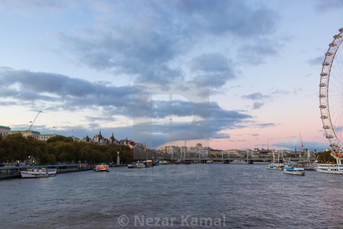 """Sunset from Westminster Bridge"" stock image"
