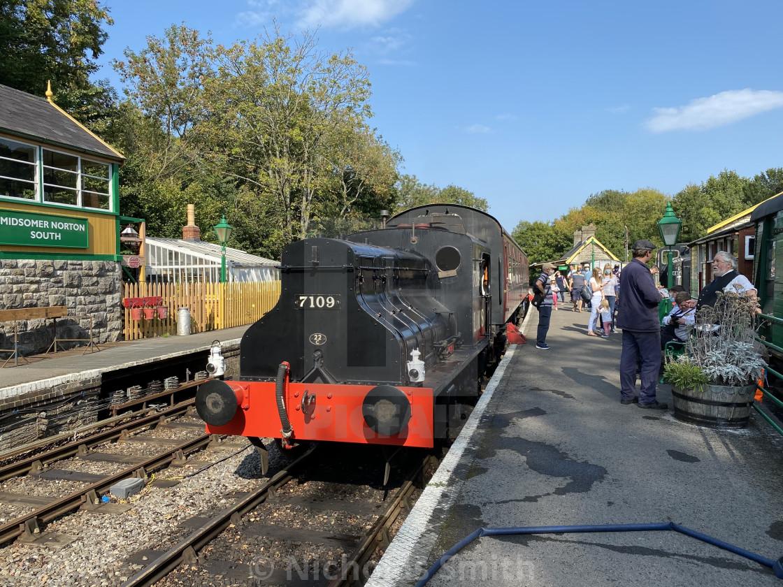 """Joyce midsomer Norton steam engine"" stock image"
