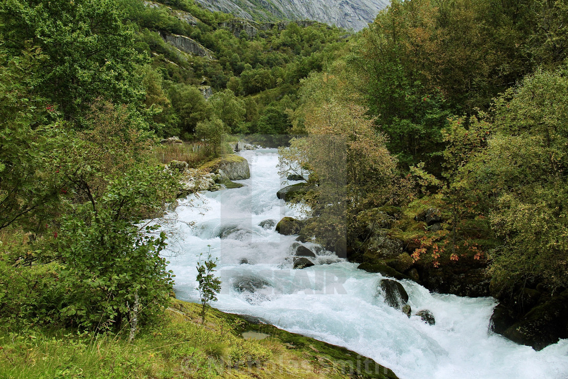 """Rapids in Norway"" stock image"