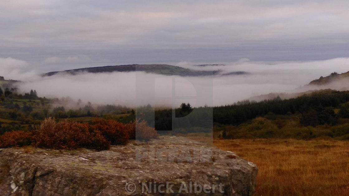 """Hill fog"" stock image"
