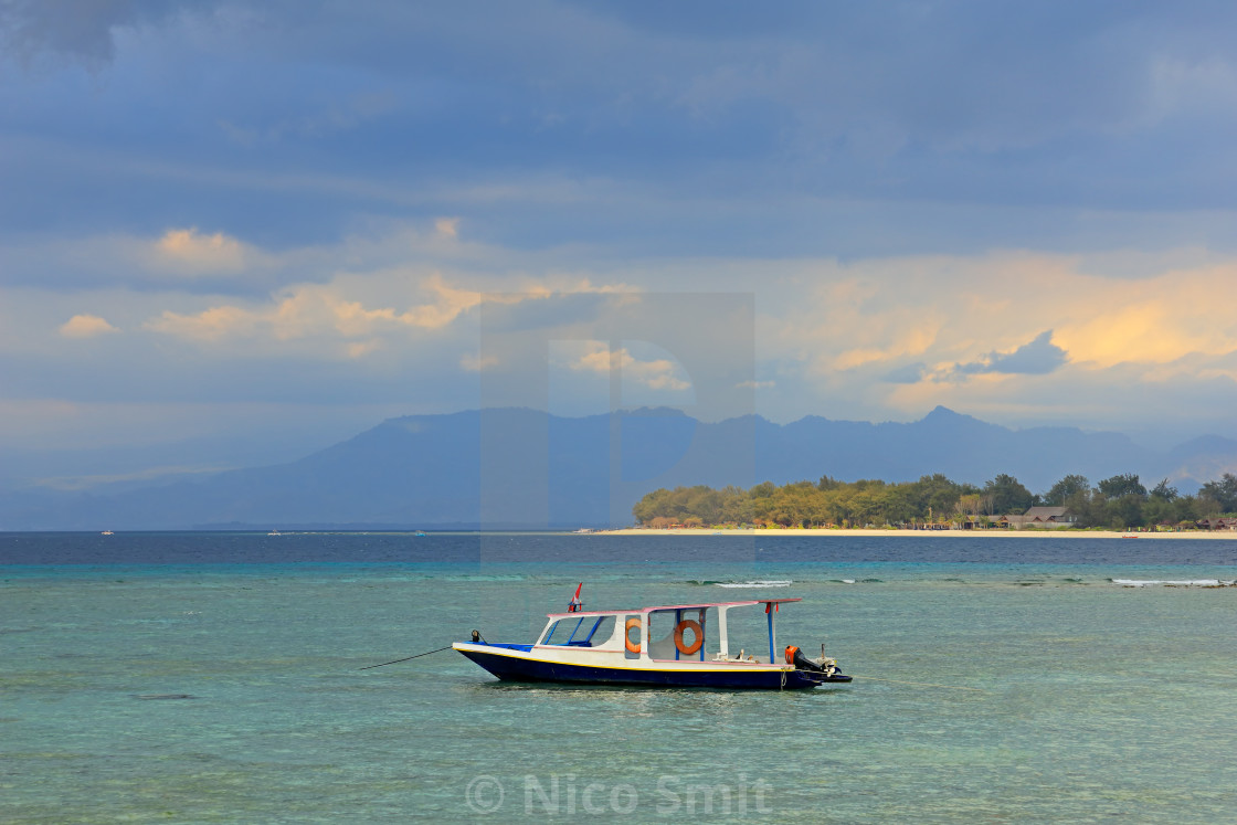 """Scenic tropical Indonesian island"" stock image"