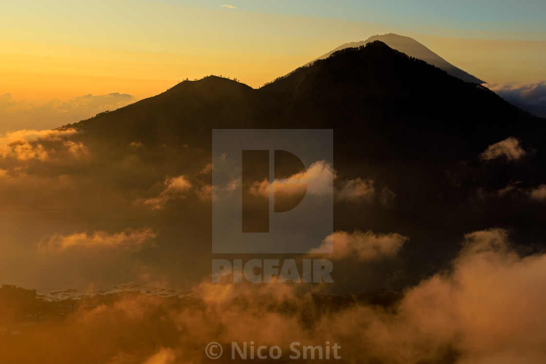"""""""View from mount Batur - Bali, Indonesia"""" stock image"""