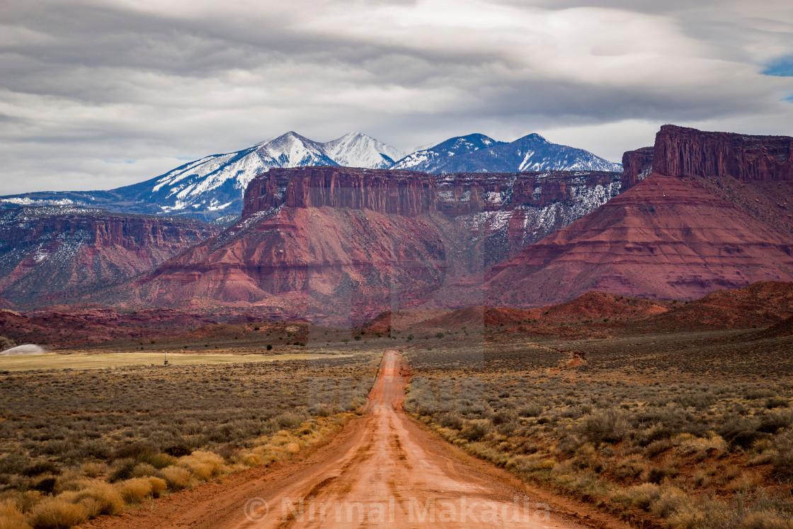 """Unbeaten Path - Castle Valley - Utah"" stock image"