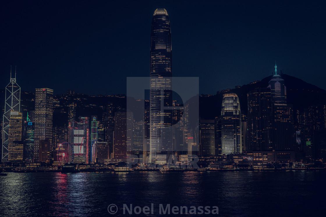 """""""Hong Kong by night"""" stock image"""