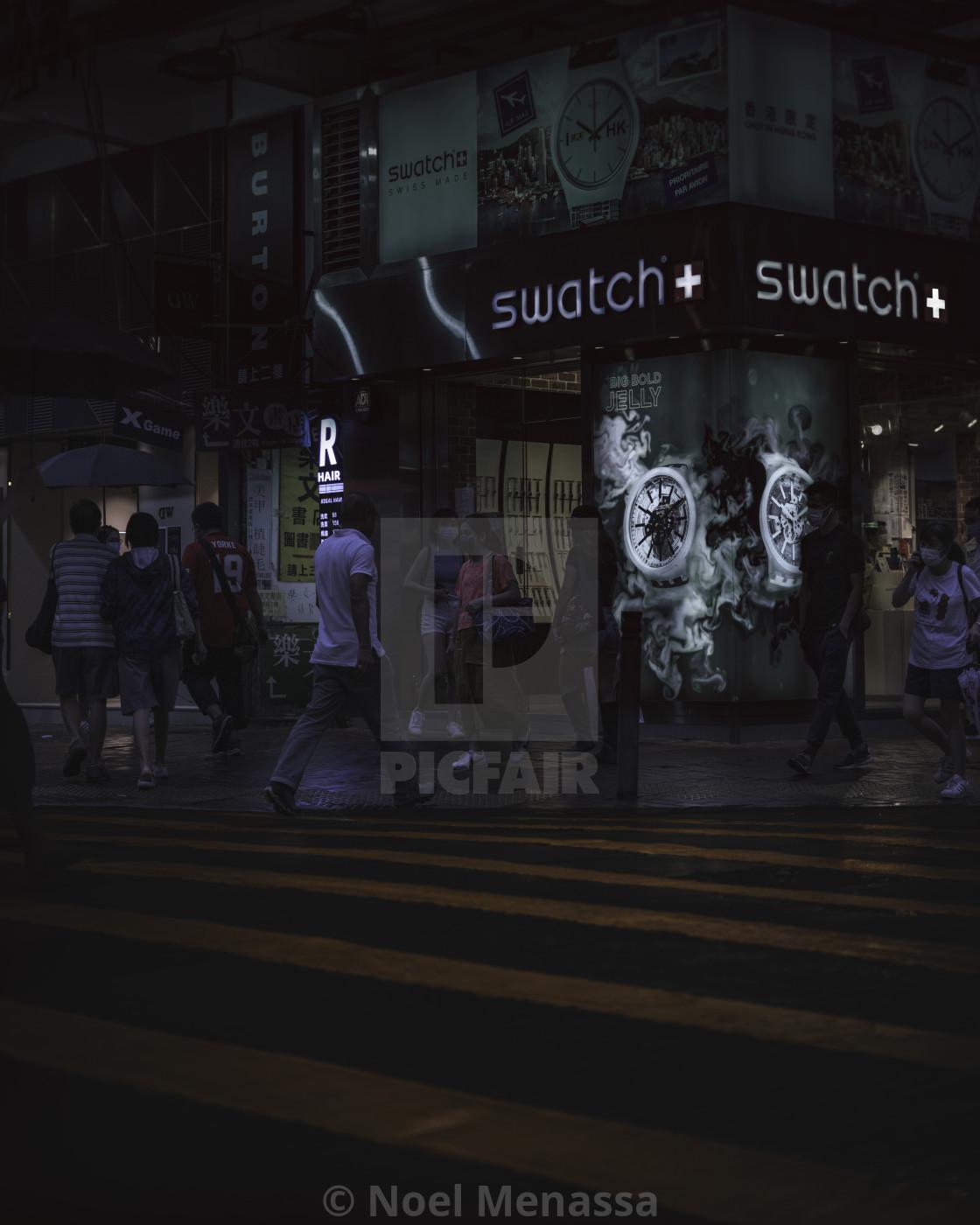 """Hong Kong the city of lights"" stock image"
