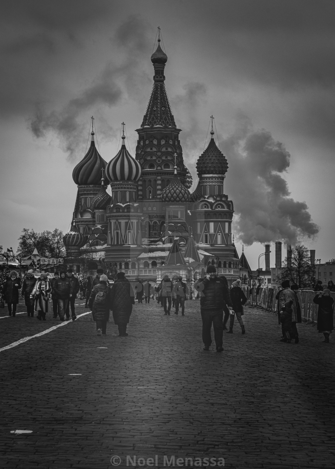 """""""B&W St Basil's Cathedral"""" stock image"""