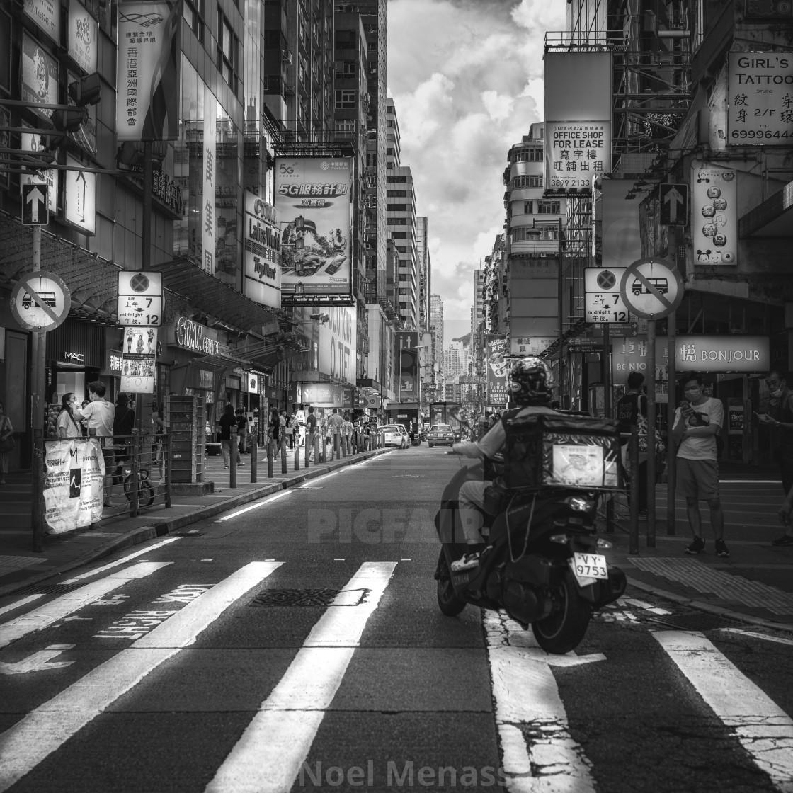 """Street shot of Mong Kok"" stock image"