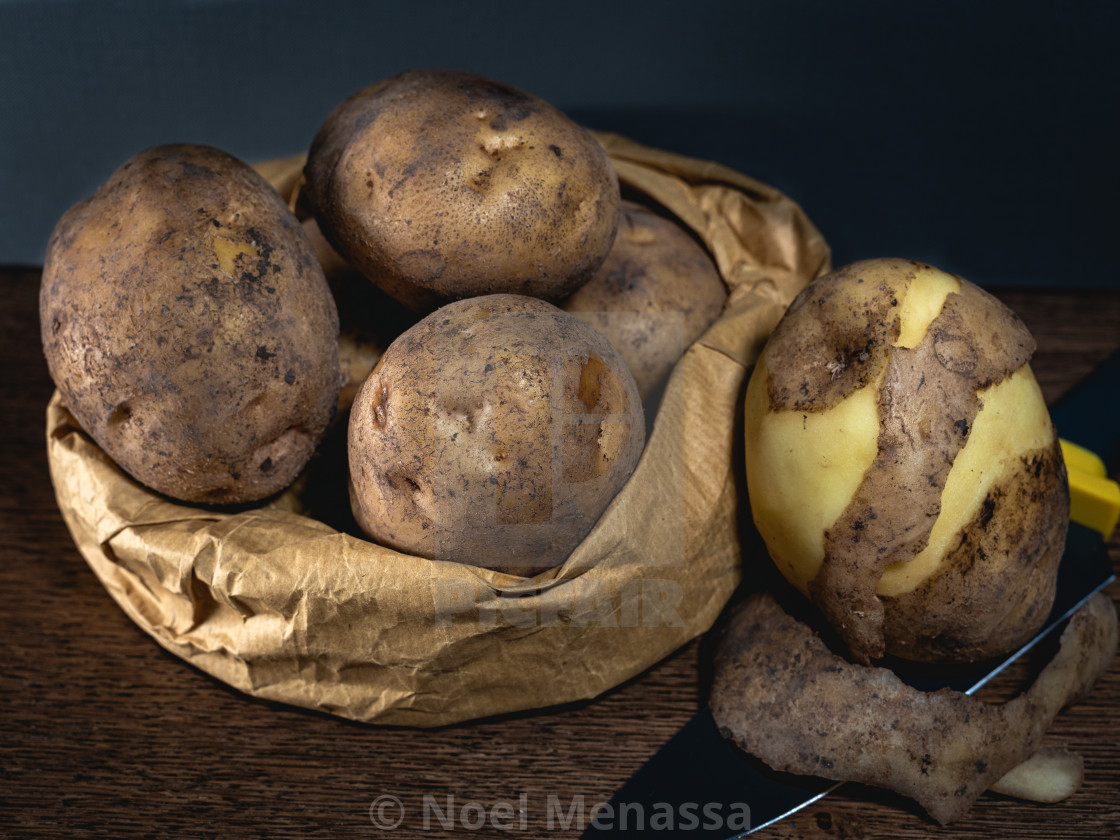 """""""Potato for grilling"""" stock image"""