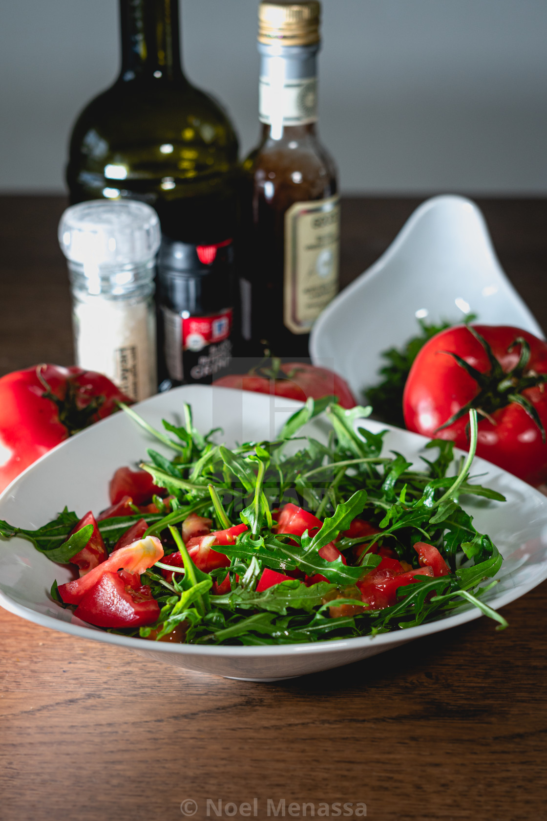 """""""Tomato salad with olive oil"""" stock image"""