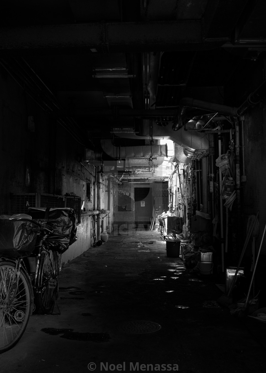 """""""Mystery of the Alleys"""" stock image"""
