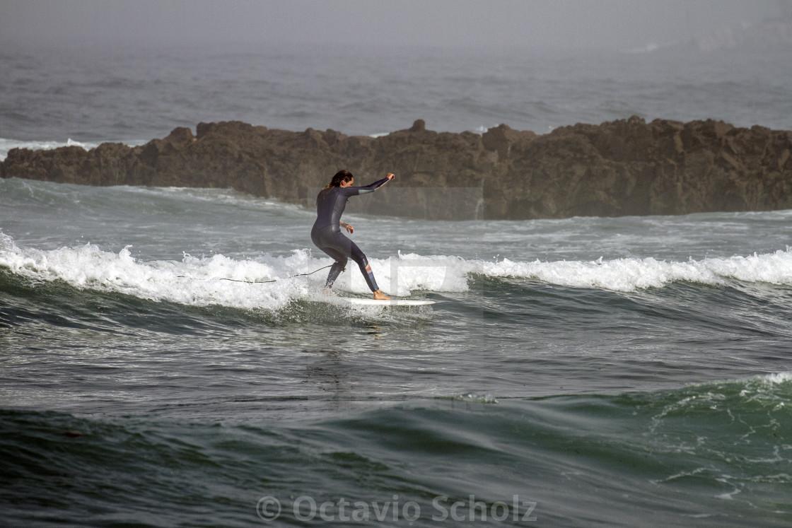 """""""Stylish Surf Girl"""" stock image"""
