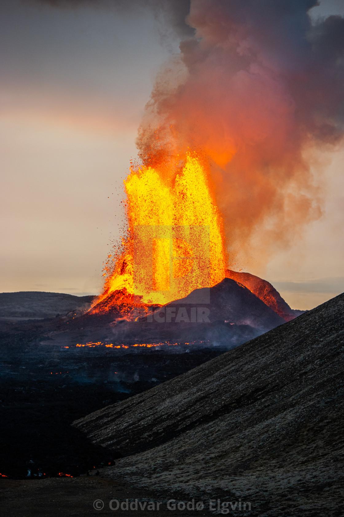 """Lava Fountain"" stock image"