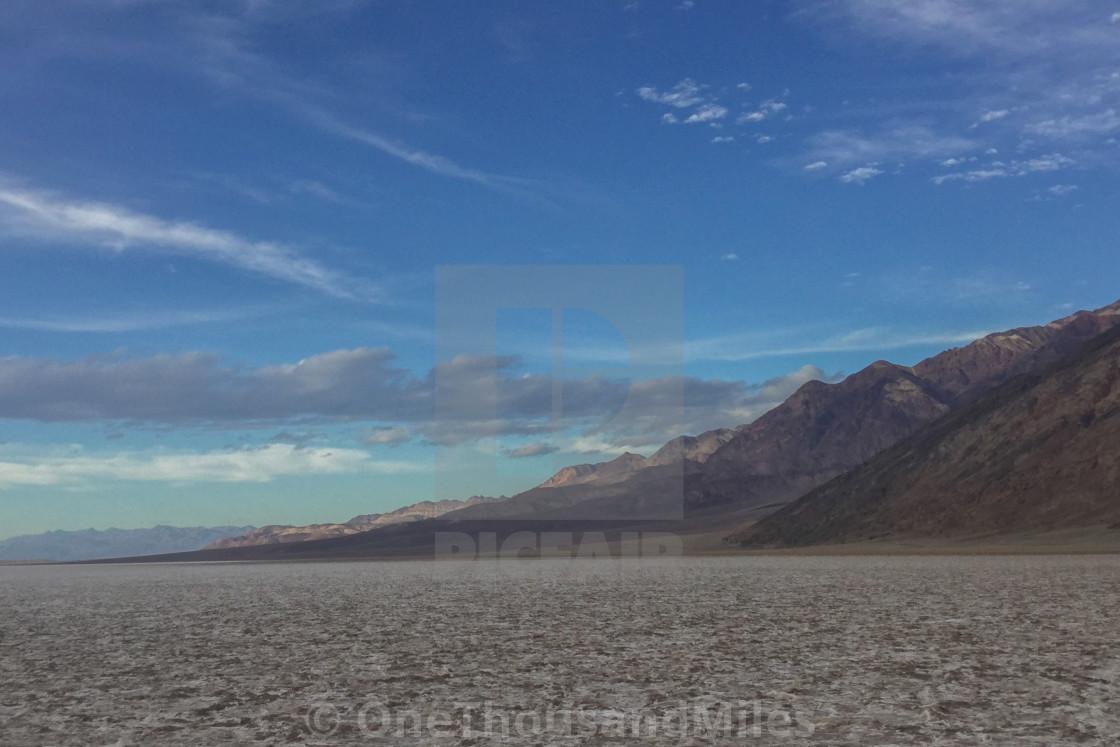 """Death Valley Badwater Basin (4 x 6) Sunny Nevada Mountain Desert"" stock image"